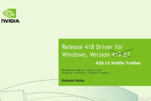 GeForce Hotfix Driver 425.11 (Game Ready) wurde bereitgestellt