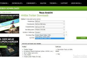 Nvidia erweitert nun die Auswahl der Grafiktreiber auf die CRD-Treiber