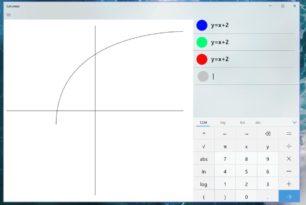 Rechner App mit grafischer Darstellung in Arbeit