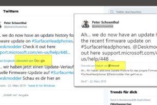 Twitter PWA nutzt jetzt die Google Übersetzung