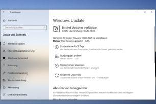 Windows 10 18860.1001 steht im Skip Ahead zum Download bereit