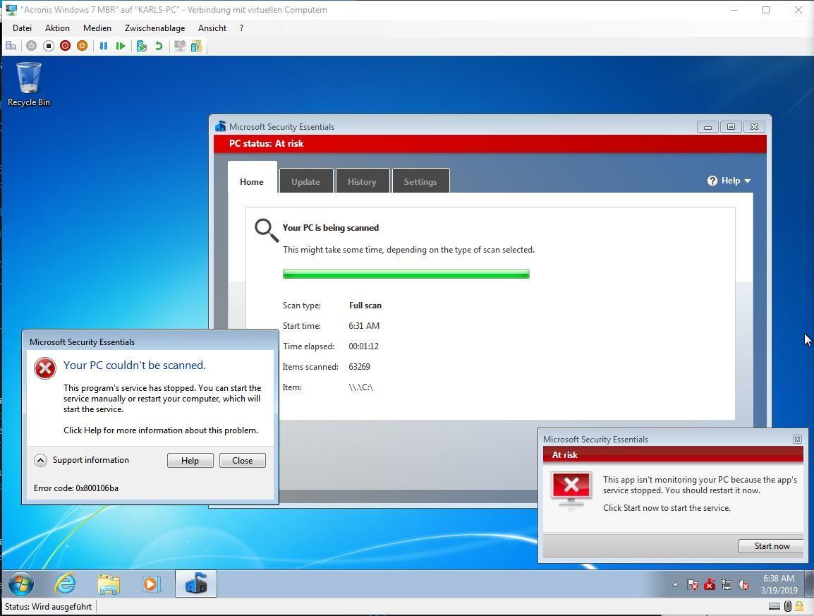 Windows 7, 8, 8 1 Windows Defender und Security Essentials
