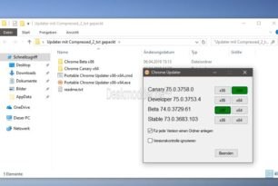 Chrome Portable Updater x64, x86 Canary bis Stable [Update]