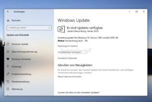 Der Release Preview Ring bekommt das Funktionsupdate auf die Windows 10 1903