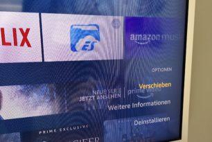 """Amazon Fire TV & Fire TV Stick: """"Anheften-Funktion"""" für Apps und Channels wieder durch """"Verschieben"""" ersetzt"""