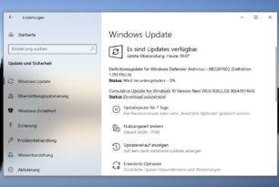 KB4497464 Windows 10 1903 18362.30 (Manueller Download) + KB4497727 SSU stehen als Update bereit