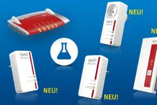 FRITZ!Box 7490 und FRITZ!Repeater 1160 mit neuem Labor (Update: 3 weitere Geräte)
