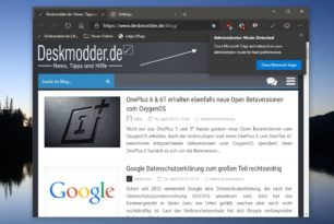 Microsoft Edge (Chromium) Administrator Modus erkannt – Ein Sicherheitsfeature im Browser