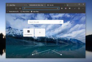 Microsoft Edge (Chromium) Newsfeed und untere Leiste entfernen