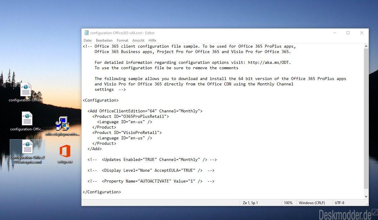 Office Deployment Tool (ODT) in neuer Version für Office Click to