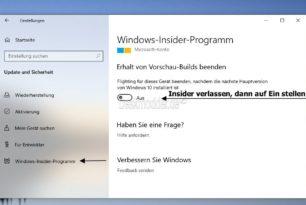 Erinnerung: Jetzt aus dem Windows 10 Insider Programm aus- oder umsteigen