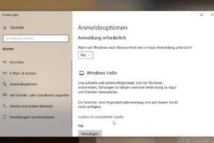 Windows Hello Einrichtung kann nicht abgebrochen werden Windows 10 1809 [Workaround]