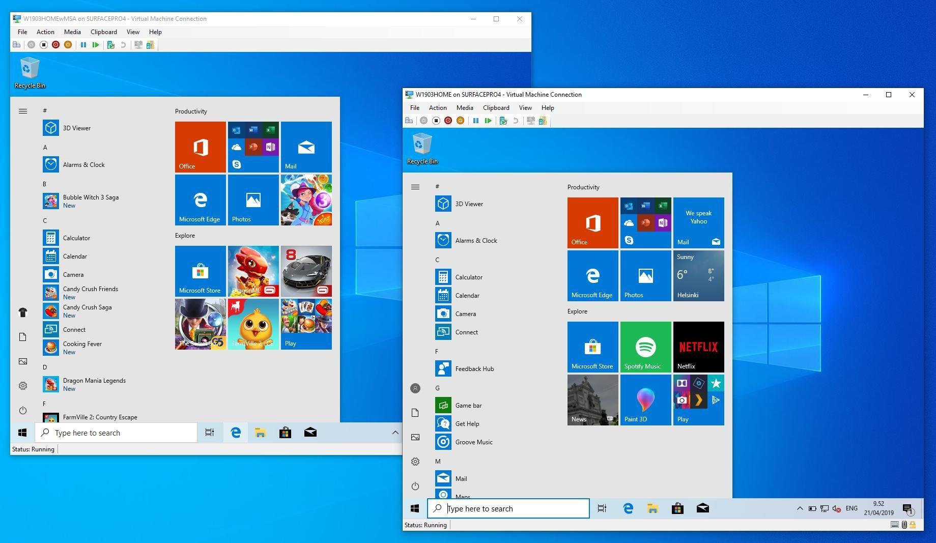 Windows 10 1903 lokal installieren hat seine Vorteile | Deskmodder de