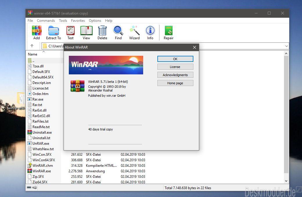 WinRAR 5 71 Beta 1 behebt viele Fehler   Deskmodder de
