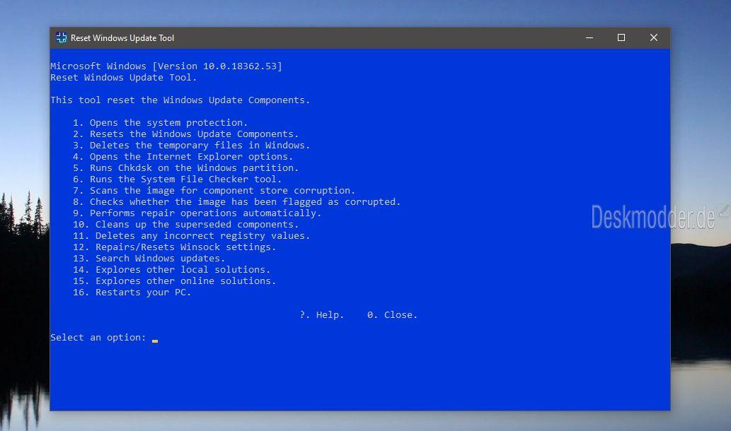 wureset und ResetWUEng - Reset Windows Update Tool in einer neuen
