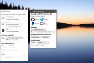 Auto Dark Mode 2.2 für Windows 10 ist erschienen
