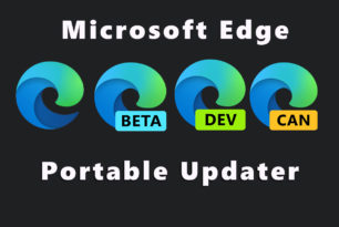 Portabler Microsoft Edge (Chromium) Updater für Canary, Developer, Beta und  Stable