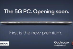 Lenovo: Windows 10 PC mit 5G mit dem Snapdragon 8cx 5G wird auf der Comutex vorgestellt