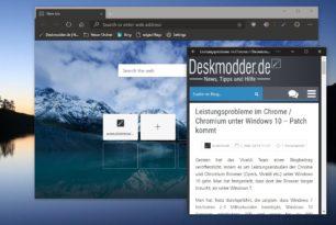 Microsoft Edge Chromium mit vielen Verbesserungen