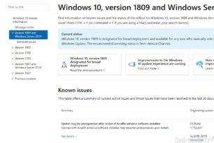Windows 10, 8, 7 – Webseite mit offenen und behobenen Problemen ist nun online