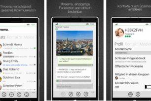 Letztes Threema-Update 3.0.0 für Windows 10 Mobile und Windows Phone