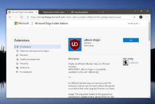 uBlock Origin für den Microsoft Edge (Chromium) herunterladen [Update]