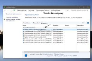 Windows 10 1903: Update lässt sich nach der Datenträgerbereinigung nicht mehr deinstallieren