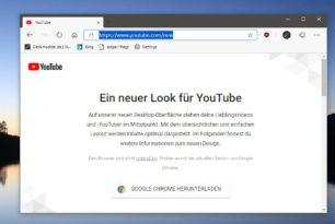 YouTube: Google ärgert die Microsoft Edge (Chromium) Nutzer [Update]