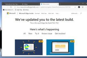 Microsoft Edge Dev 76.0.176.1 in deutsch und auch für MacOS –  Beta 75.0.139.28 wurde released