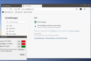 Microsoft Edge Dev 77.0.189.3 und Canary  77.0.195.0 erschienen