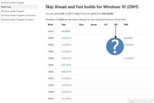 Erste offizielle Windows 10 20H1 Insider ISO [Update: Die 18912 ist nun da]