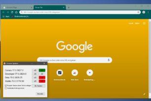 """Google Chrome wird """"bunt"""" – Mehrere Farben lassen sich einstellen"""