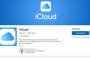 iCloud App im Microsoft Store für Windows 10