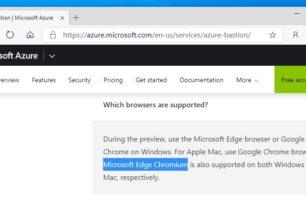 Microsoft Edge Chromium der offizielle Name?