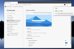 Microsoft Edge (Chromium) Layout auswählen nun direkt in den Einstellungen
