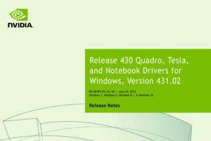 Nvidia Quadro Treiber 431.02 WHQL steht zum Download bereit