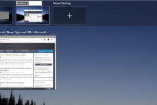 Versteckte Funktionen in der Windows 10 18922 – Cortana Beta, virtuellen Desktop umbenennen, Screenshot
