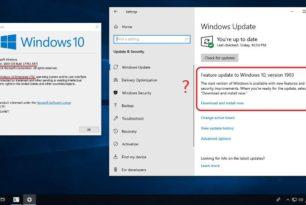 Windows 10 Enterprise LTSC (1809) bekommt das Funktionsupdate auf die 1903 angezeigt