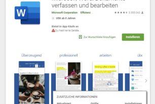 Android: Microsoft Word App mit über 1 Milliarde Installationen