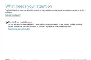 Apple Boot Camp: Aktualisierung auf die Windows 10 1903 schlägt fehl