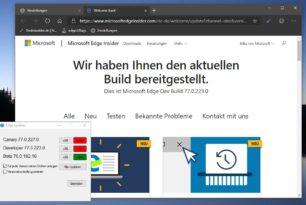 Microsoft Edge (Chromium) Dev 77.0.223.0 wieder mit einigen Verbesserungen