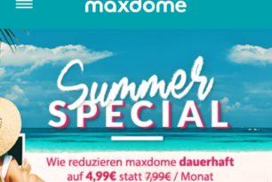 """Maxdome mit """"Summer Special"""": Neukunden streamen für 4,99 Euro monatlich"""