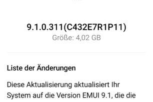 EMUI 9.1: Update für Huawei P20 & P20 Lite ebenfalls schon in Deutschland verfügbar