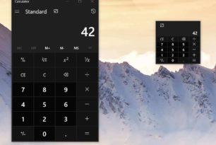 Rechner App bald mit Mini-Modus und im Vordergrund bleiben