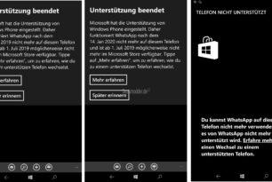 Windows 10 Mobile: WhatsApp mit einer Gnadenfrist bis zum 14.Januar 2020
