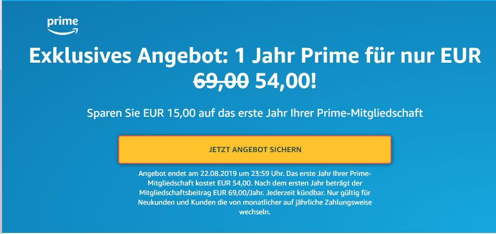 Amazon Prime 69 Euro