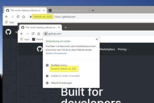 Chrome und Firefox Browser entfernen die Zertifikate aus der Url-Ansicht