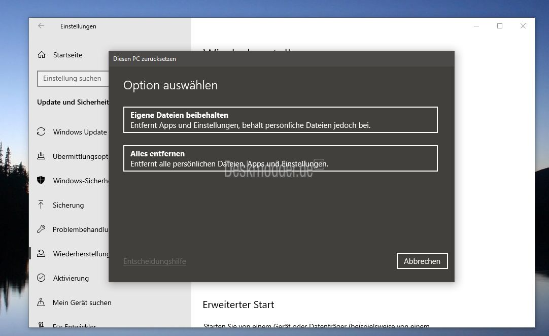 Windows 10 Zurücksetzen Programme Behalten