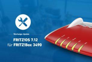 FRITZ!Box 3490 nun auch mit FRITZ!OS 7.12