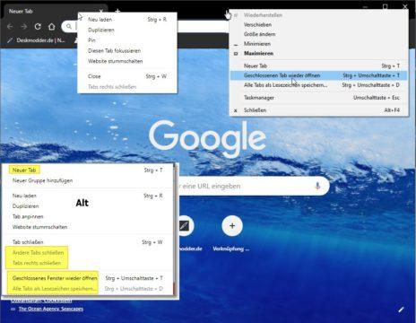 Google Chrome Alle Tabs Schließen